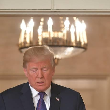 Trump prepara-se para pronunciamento em que anunciou ataque militar à Síria Foto: MANDEL NGAN / AFP/13-4-2018