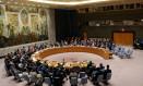 Conselho de Segurança da ONU discute ataque de EUA, Reino Unido e França contra alvos supostamente ligados a armas químicas na Síria Foto: EDUARDO MUNOZ / REUTERS