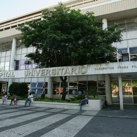 A fachada do Hospital Universitário Clementino Fraga Filho, da UFRJ Foto: Berg Silva/18-3-2008