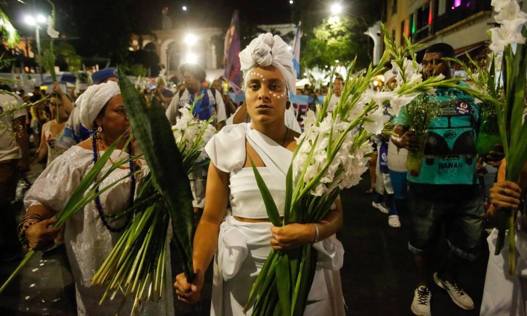 Grupos religiosos se juntaram à marcha contra a violência Foto: Brenno Carvalho / Agência O Globo