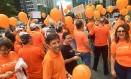 Militantes do Novo fazem ato público Foto: Reprodução/ Facebook