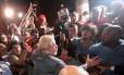 O ex-presidente Lula no dia em que se entregou à Polícia Federal