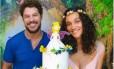 O casal de atores José Loreto e Débora Nascimento no chá de bebê de Bella Foto: Rebeca Penna Firme/Divulgação