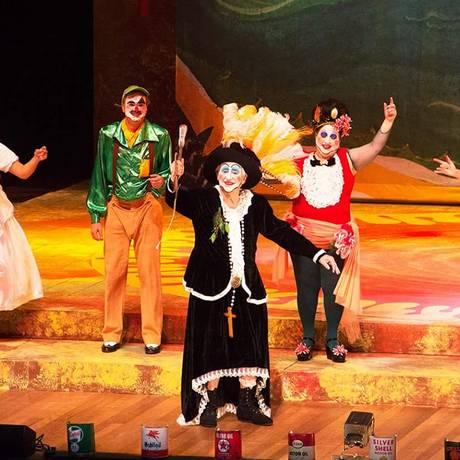 José Celso Martinez Corrêa em cena de 'O Rei da Vela', na Cidade das Artes: financiamento via crowdfunding Foto: Divulgação
