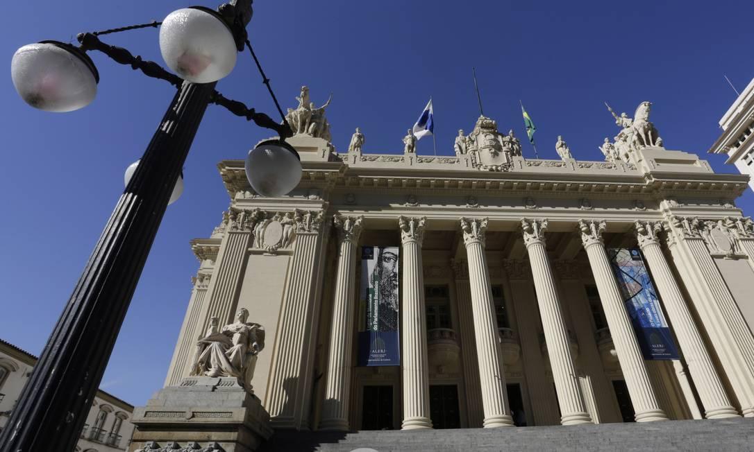 O Palácio Tiradentes, sede da Assembleia Legislativa Foto: Gustavo Miranda / Agência O Globo