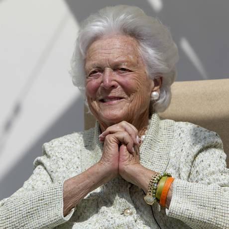 Ex-primeira-dama Barbara Bush em 2013 Foto: Robert F. Bukaty / AP
