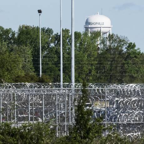 O presídio de segurança máxima Lee Correctional Institution Foto: Sean Rayford / AP
