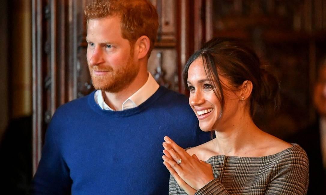 Harry e Meghan Markle juntos em evento Foto: POOL New / REUTERS