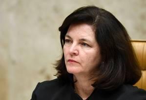 A procuradora-geral da República, Raquel Dodge, durante julgamento no STF Foto: Evaristo Sá/AFP/04-06-2018