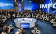 Reunião anual do FMI, em WashingtonDrew Angerer/Bloomberg