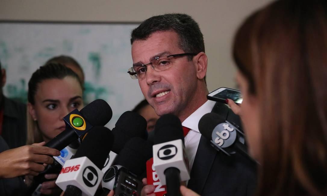 O chefe da Polícia Civil do Rio, o delegado Rivaldo Barbosa Foto: Custódio Coimbra - 16/04/2018 / Agência O Globo