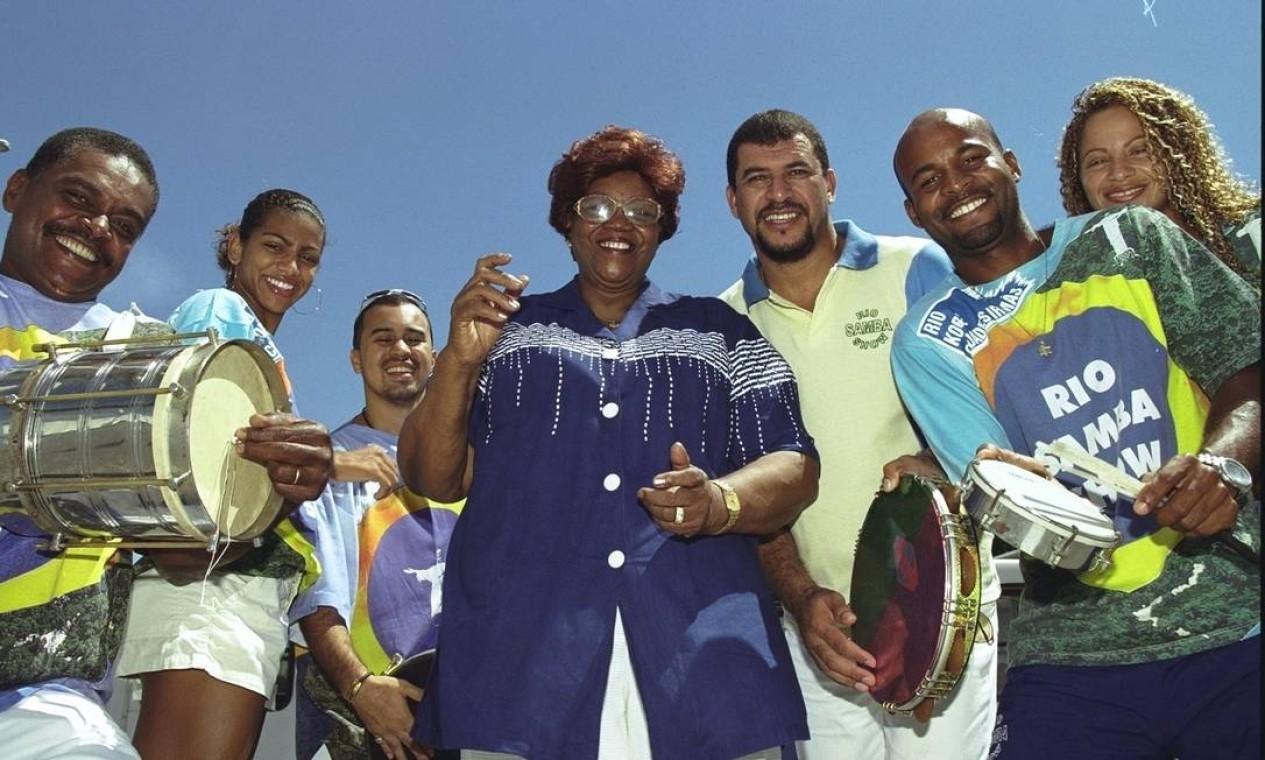 No Terreirão do Samba para o Rio Samba Show, em 2001 Foto: Ana Branco / Agência O Globo
