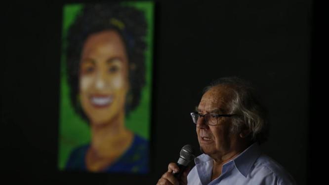 Adolfo Pérez Esquivel: 'O caso de Marielle é um exemplo da luta pela vida' Foto: Pablo Jacob / Agência O Globo