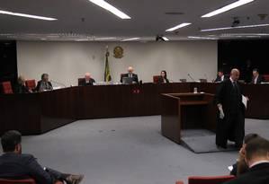 Primeira Turma do STF julga denúncia contra o senador Aécio Neves (PSDB-MG) Foto: Ailton de Freitas / Agência O Globo