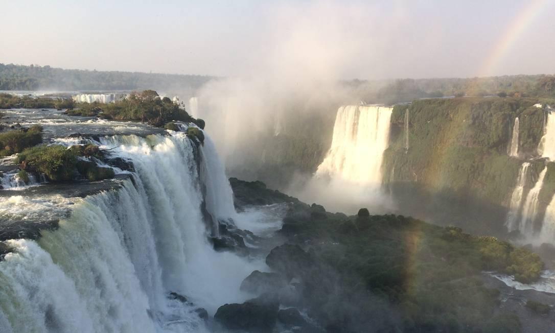 O Parque Nacional do Iguaçu, onde ficam as cataratas de mesmo nome, recebeu 1,8 milhão de pessoas e ficou em segundo lugar no ranking dos parques mais visitados do país. Foto: Luciane Costa