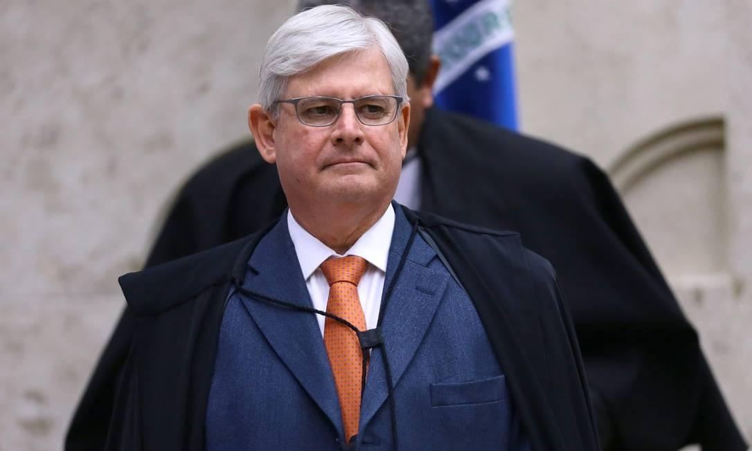 O então procurador-geral da República, Rodrigo Janot, durante sessão plenária do STF Foto: Jorge William/Agência O Globo/14-09-2017