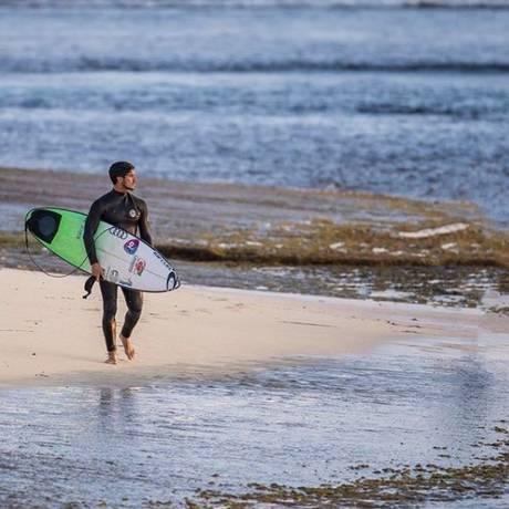 Gabriel Medina destacou que não se sentia seguro no mar de Margaret River Foto: Reprodução/Instagram