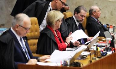Ministros do STF julgam pedido de habeas corpus de Paulo Malu Foto: Ailton de Freitas / Agência O Globo