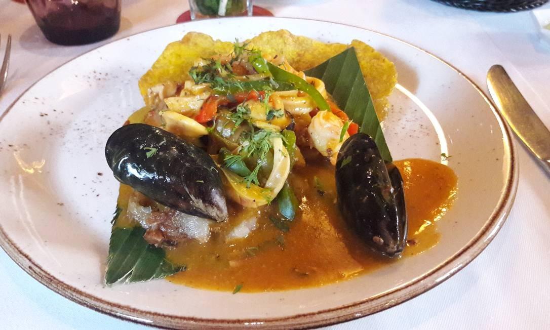 Frutos do mar: prato servido no El Santíssimo Foto: Pollyanna Bretas / Pollyanna Brêtas