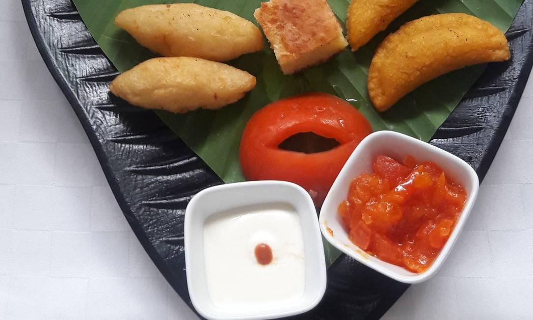 Prato colorido e tipicamente caribenho no restaurante Candé Foto: Pollyanna Bretas / Pollyanna Brêtas