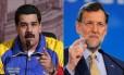 Maduro e Rajoy vivem anos de atrito Foto: Reprodução