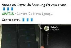 Venda de celulares pela internet está sendo monitorada pela Polícia Civi Foto: Reprodução