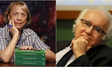 A escritora Vilma Guimarães Rosa e o advogado Joaquim Falcão: disputa pela cadeira nº 3 Foto: Daniella Dacorso e Domingos Peixoto / Agência O GLOBO