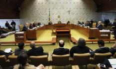 Sessão do Supremo Tribunal Federal Foto: Ailton de Freitas / Agência O Globo 18/04/2018