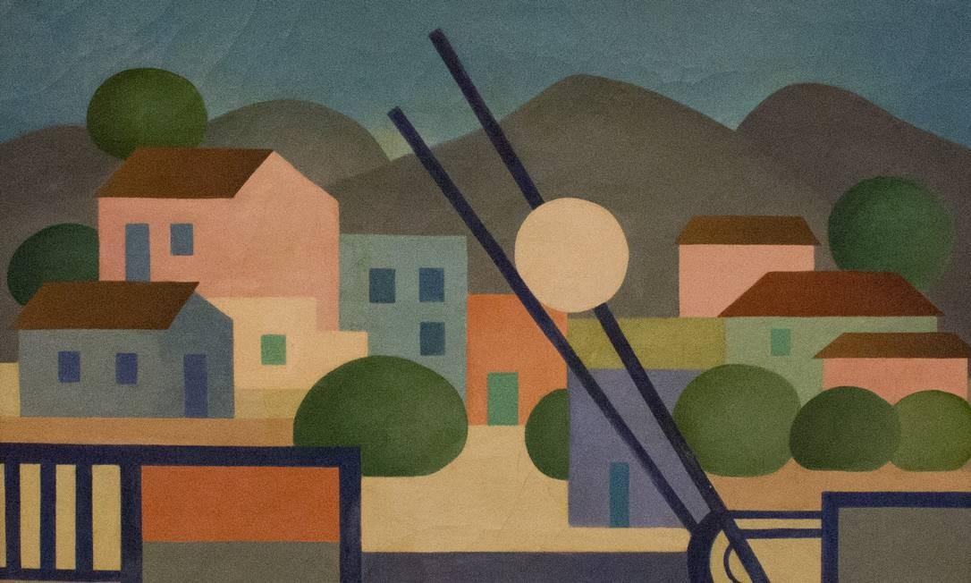 """""""Passagem de nível 2"""", de Tarsila do Amaral, também está na mostra, que reúne 124 obras Casa Roberto Marinho / Divulgação"""