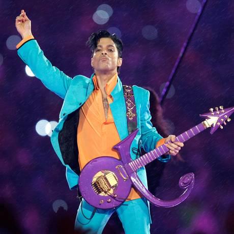 Prince se apresenta no Super Bowl XLI, em 2007 Foto: Chris O'Meara / AP