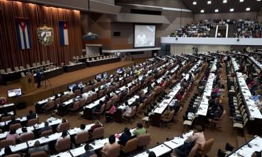 Sessão em que se decidiu novo governo de Cuba na quarta-feira, em Havana Foto: Ramon Espinosa / AP