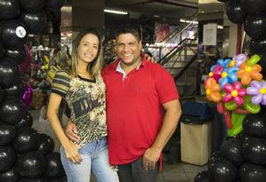 Gizelle e Telmo são donos da Brink Art e Brink Balloon Foto: Agência O Globo / Barbara Lopes