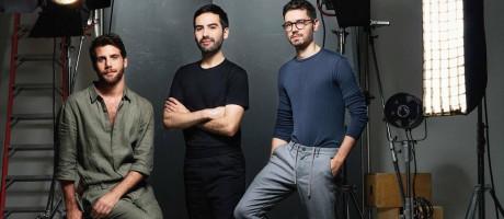 A partir da esquerda: André Namitala, da Handred, e a dupla André Boffano e Sam Santos, da Modem Foto: Pedro Dimitrow