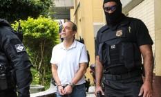 O ex-governador do Rio de Janeiro Sergio Cabral, realiza exame corpo delito no IML em Curitiba (PR) Foto: Geraldo Bubniak / Agência O Globo 19/01/2018