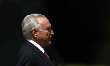 O presidente Michel Temer participa de cerimônia comemorativa do Dia do Exército Foto: Jorge William / Agência O Globo