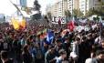 Estudantes e professores foram às ruas para protestar contra o lucro no setor educacional Foto: RODRIGO GARRIDO / REUTERS