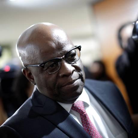 O ex-ministro do STF Joaquim Barbosa Foto: Ueslei Marcelino / Reuters/19-4-18
