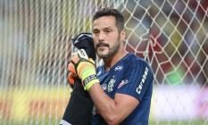 Júlio César disputou duas partidas em seu retorno ao Flamengo Foto: Gilvan de Souza