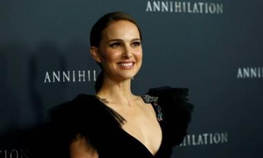 Natalie Portman em estreia de filme Annihilation, em fevereiro Foto: Mario Anzuoni / REUTERS