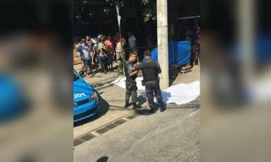 Policiais do 31° BPM (Barra da Tijuca) foram acionados para o local Foto: Página Itanhangá Rio das Pedras