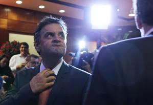 O senador Aécio Neves (PSDB) Foto: Michel Filho / Agência O Globo/30-9-13