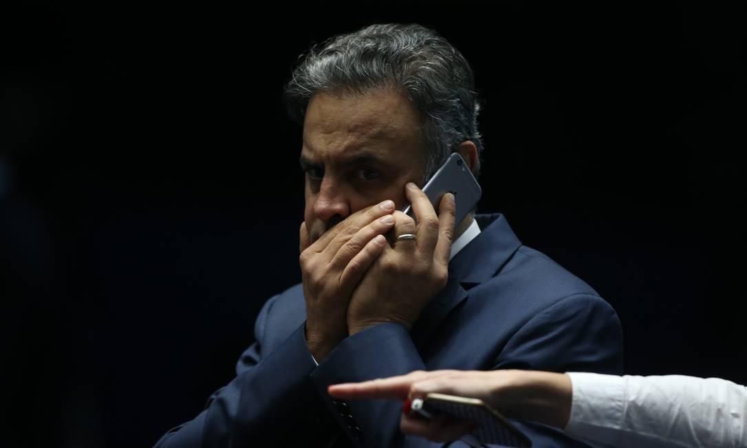 O senador Aécio Neves é acusado de receber propina da JBS Foto: Ailton de Freitas/4-7-17