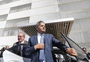 O senador Aécio Neves Foto: André Coelho / 4-7-17
