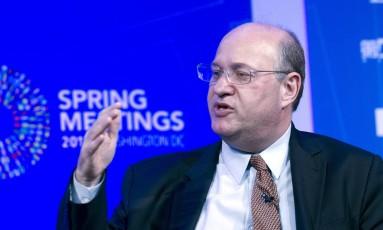 O presidente do Banco Central, Ilan Goldfajn, que espera que o FMI melhore a estimativa de crescimento do Brasil Foto: Jose Luis Magana / AP