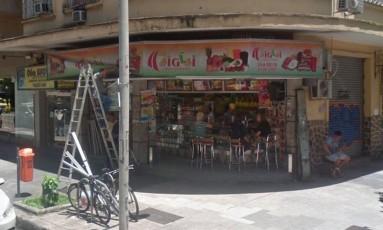 Lanchonete assaltada em Botafogo, na Zona Sul do Rio Foto: Reprodução/Google Street View