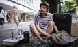 Mario Hanff, morador de rua Holandês que aguarda burocracia para voltar ao seu país Foto: Fernando Lemos / Agência O Globo