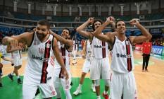 Jogadores do Flamengo comemoram a classificação da última quinta Foto: Staff Images/Flamengo