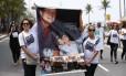 Manifestação pelos dois anos da morte das vítimas de trecho da ciclovia Tim Maia Foto: Pablo Jacob / O Globo