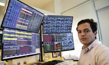 Guilherme Foureaux, sócio e gestor da MRJ Marejo, que gere o multimercado Marejo Azul Foto: Gustavo Miranda / Agência O Globo