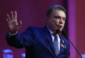 Álvaro Dias, pré-candidato ao Planalto, fala em evento em São Paulo 09/04/2018 Foto: Edilson Dantas / Agência O Globo